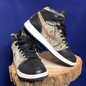 Jordan faux fur sneakers